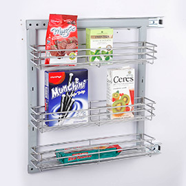 Side Mounted Pullout Three Shelves
