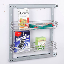 Side Mounted Pullout Two Shelves